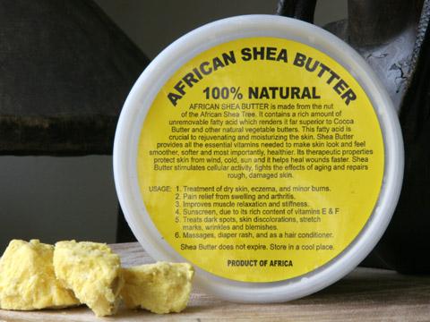 Shea butter as facial moisturizer